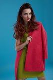 Kobieta styl Moda modela dziewczyna W Pięknych Modnych ubraniach Zdjęcia Stock