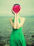 Kobieta surrealistyczny portret Zdjęcie Royalty Free