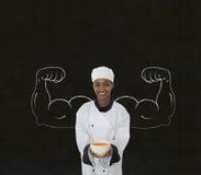Kobieta szef kuchni Fotografia Royalty Free
