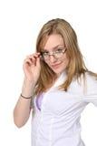 kobieta szkła Zdjęcia Stock