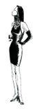 kobieta szklana Zdjęcie Royalty Free