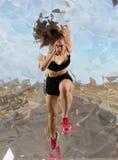 Kobieta szybkobiegacz opuszcza zaczynać obrazy stock