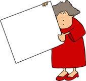 kobieta szyldowa royalty ilustracja