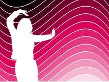 kobieta tańcząca Zdjęcia Stock