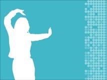 kobieta tańcząca Obrazy Stock