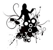 kobieta tańcząca Obraz Stock