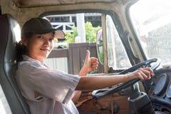 Kobieta target1131_1_ ciężarówkę Zdjęcie Stock