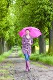 Kobieta target195_0_ gumowych buty Obraz Stock