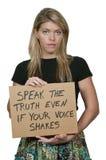 Kobieta TARGET102_1_ Znaka Zdjęcie Stock