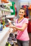 Kobieta target1143_0_ sportów buty Obraz Royalty Free
