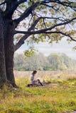 Kobieta TARGET226_1_ List zdjęcie stock