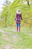 Kobieta target405_0_ gumowych buty Zdjęcie Royalty Free