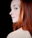Kobieta target613_0_ nad jej ramieniem. Obraz Royalty Free