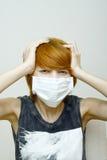 Kobieta target93_0_ ochronną maskę zdjęcia royalty free