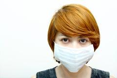 Kobieta target949_0_ ochronną maskę fotografia royalty free