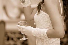 kobieta toast Zdjęcia Stock