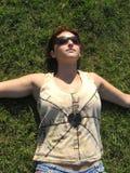 kobieta trawy Zdjęcie Stock