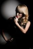 kobieta truskawkowa kwasu Obrazy Royalty Free