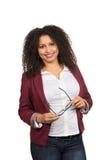 Kobieta trzyma szkła Zdjęcia Stock