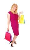 Kobieta trzyma up jej torba na zakupy Fotografia Royalty Free