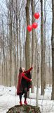 Kobieta z balony Fotografia Royalty Free