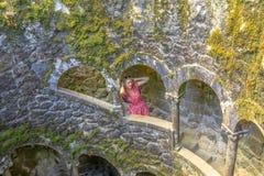 Kobieta turysta w Sintra Fotografia Stock