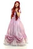 Kobieta Ubierająca w Princess kostium zdjęcie royalty free