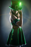 Kobieta ubierająca jako leprechaun Zdjęcie Stock
