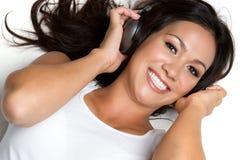 kobieta usłyszała muzyki zdjęcia royalty free