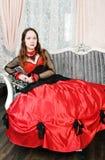 Kobieta w średniowiecznej sukni zdjęcia royalty free