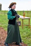 Kobieta w antycznej sukni Obraz Royalty Free