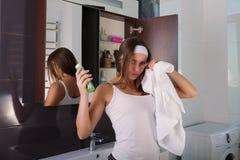 Kobieta w łazience Zdjęcie Royalty Free