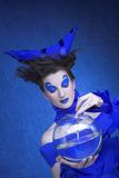 Kobieta w błękicie Zdjęcie Stock