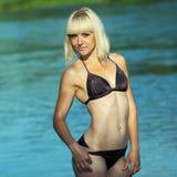 Kobieta w bikini Fotografia Royalty Free