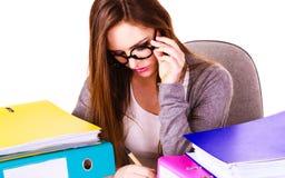 Kobieta w biurowym działaniu obrazy stock