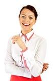 Kobieta w biznesu munduru ono uśmiecha się Zdjęcie Royalty Free
