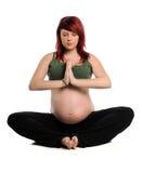kobieta w ciąży ćwiczyć joga Obrazy Stock
