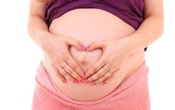 kobieta w ciąży Zdjęcia Royalty Free