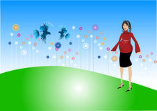 kobieta w ciąży royalty ilustracja