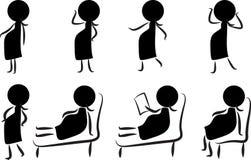 Kobieta w ciąży ikona, symbo/ Zdjęcie Royalty Free