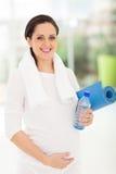 Kobieta w ciąży joga Obrazy Stock
