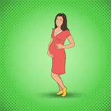 Kobieta w ciąży komiczki Obraz Royalty Free