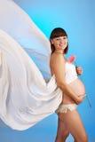 kobieta w ciąży piękni potomstwa Obraz Royalty Free