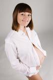 kobieta w ciąży piękni potomstwa Zdjęcie Royalty Free