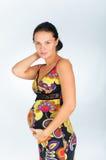 kobieta w ciąży piękni potomstwa Zdjęcie Stock