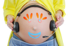 kobieta w ciąży piękni potomstwa Fotografia Stock