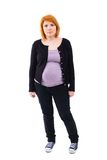 Kobieta w ciąży pozycja Obraz Royalty Free