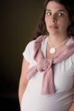 kobieta w ciąży przeraziła Obrazy Stock