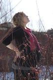 Kobieta w ciąży relaksujący outside Obrazy Stock