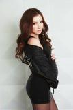Kobieta w ciąży w skała stylu Zdjęcia Stock